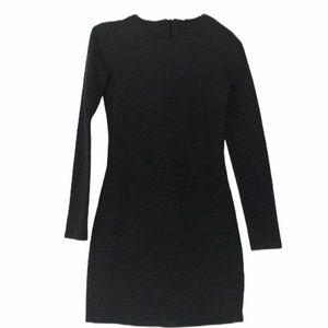 ZARA Long-Sleeve Grey Knit Dress
